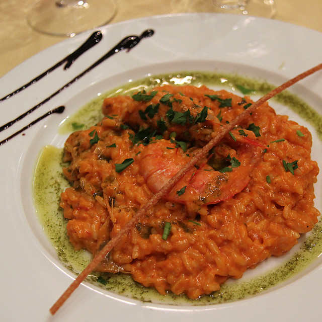 """""""Shrimp risotto, Florence, Italy"""" stock image"""