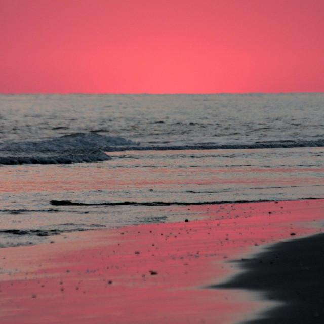"""Sunset, bald head Island North Carolina"" stock image"