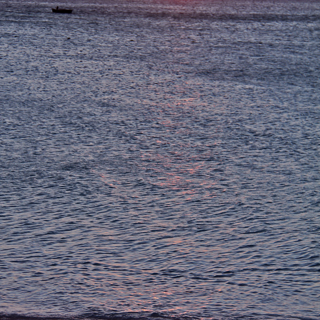 """Sunset, Oak Island, North Carolin"" stock image"