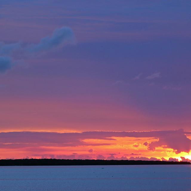 """Sunset,, Islamorada, Florida Keys"" stock image"