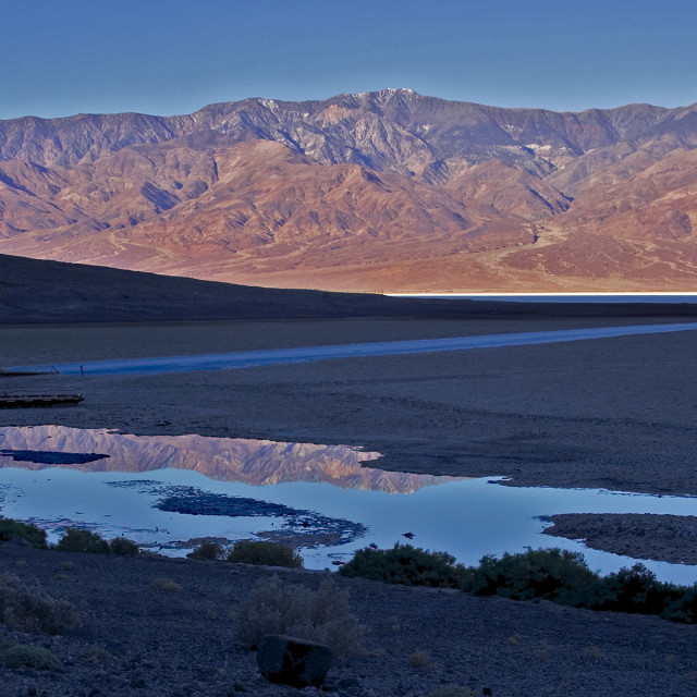"""""""Sunrise reflections, death Valley, California"""" stock image"""