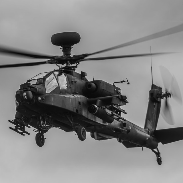 """""""Agusta Westland AH64 Apache helicopter."""" stock image"""