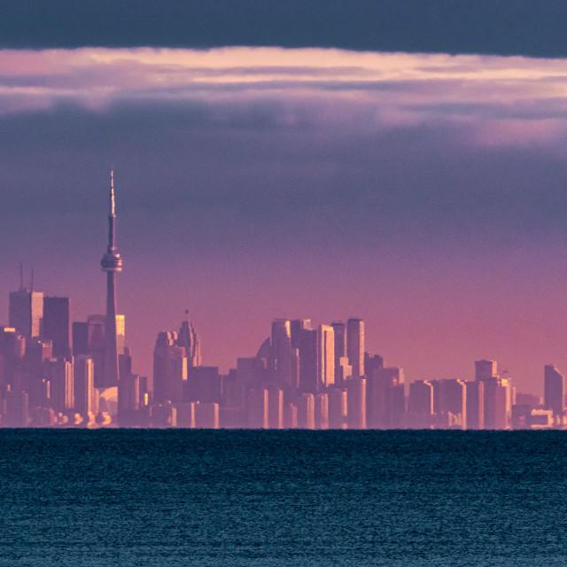 """Toronto in the Purple Haze"" stock image"