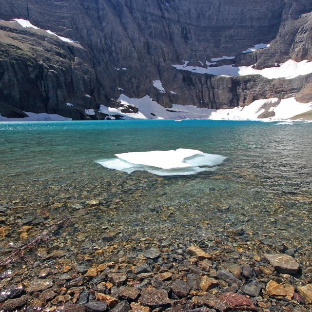 """, glacier national Park,Iceberg late"" stock image"