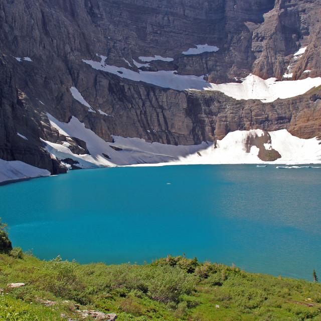 """Iceberg lake, glacier national Park, Montana"" stock image"