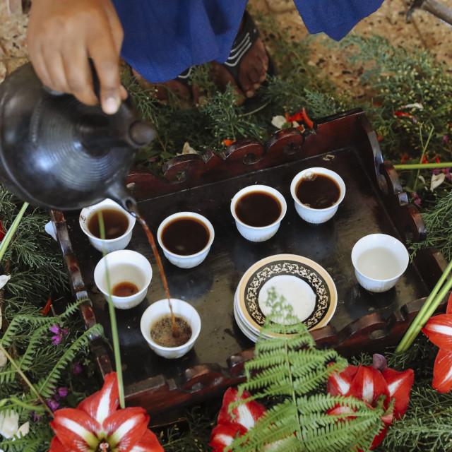 """Traditional Coffee Ceremony"" stock image"