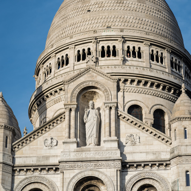 """""""The basilica of Sacré-Cœur in Paris, France"""" stock image"""