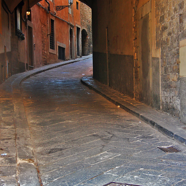 """""""Alley,Florence, Italy"""" stock image"""