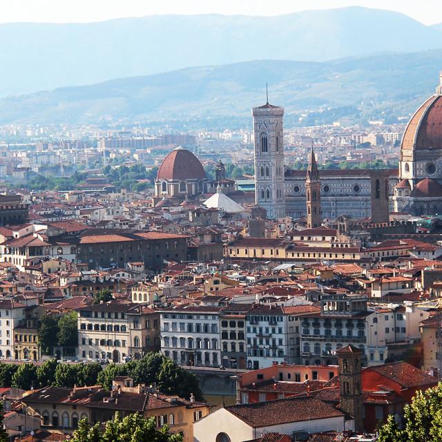 """Florence Vista, Italy"" stock image"