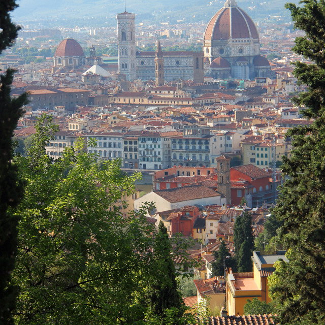 """Florence skyline, Italy"" stock image"