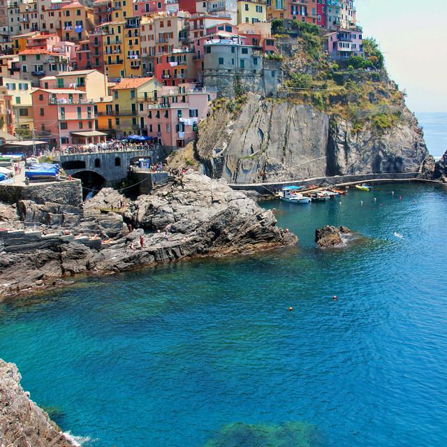 """""""Manarola, Cinque Terre, Italy"""" stock image"""