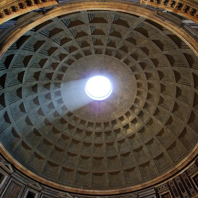 """Pantheon dome"" stock image"