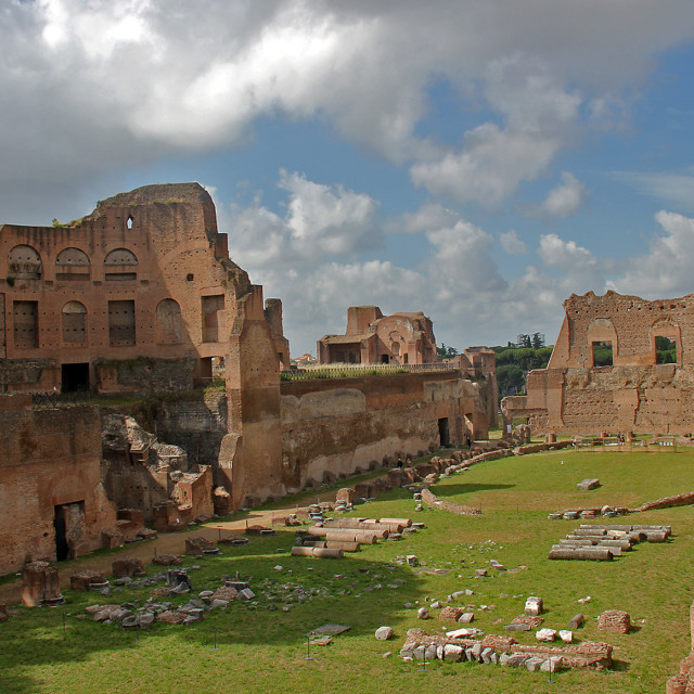 """Pavilion, Rome"" stock image"