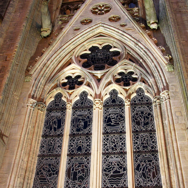 """""""Bayeux Cathedral, window,France"""" stock image"""