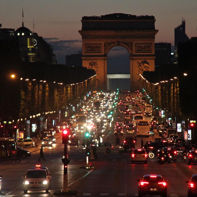 """""""Champs Élysées, Paris, France"""" stock image"""