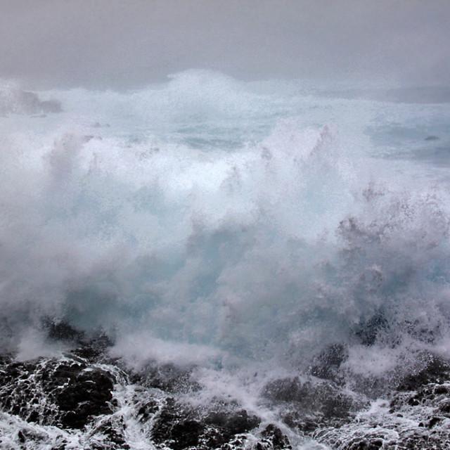 """""""Crashing waves, big sur, California"""" stock image"""