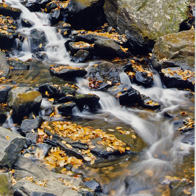 """Crabtree Falls, Little Switzerland North Carolina"" stock image"