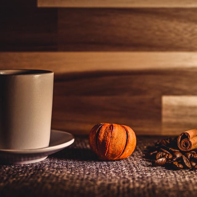"""Coffee, tangerine and cinnamon"" stock image"