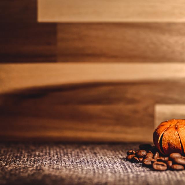 """Coffee and tangerine"" stock image"