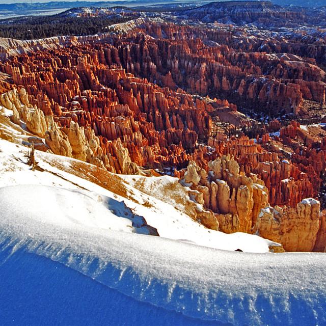 """Bryce Canyon snow, Bryce Canyon national Park, Utah"" stock image"