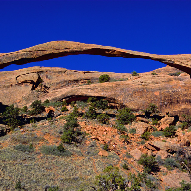 """""""Double arch,Arches national Park Utah"""" stock image"""