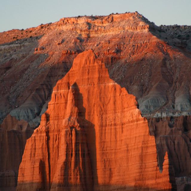 """Temple of the sun, capital reef national Park, Utah"" stock image"