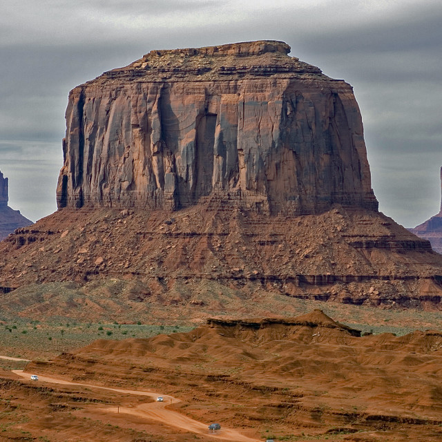 """""""The mittens and Merrick's boot, Monument Valley Arizona"""" stock image"""
