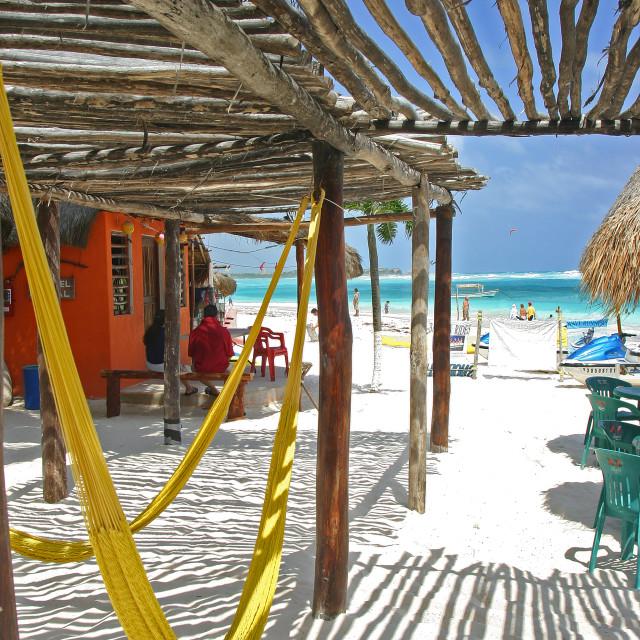 """Beach, Xpu-ha,, Mexico"" stock image"