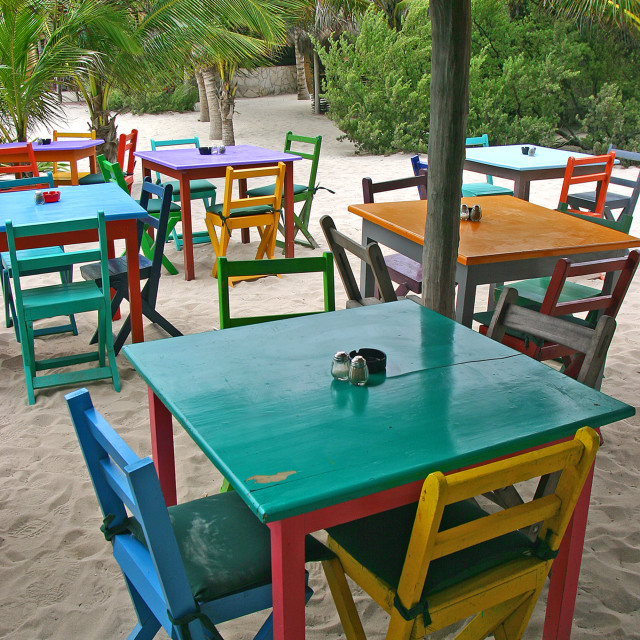 """Zamas restaurant,Tulum, Mexico"" stock image"