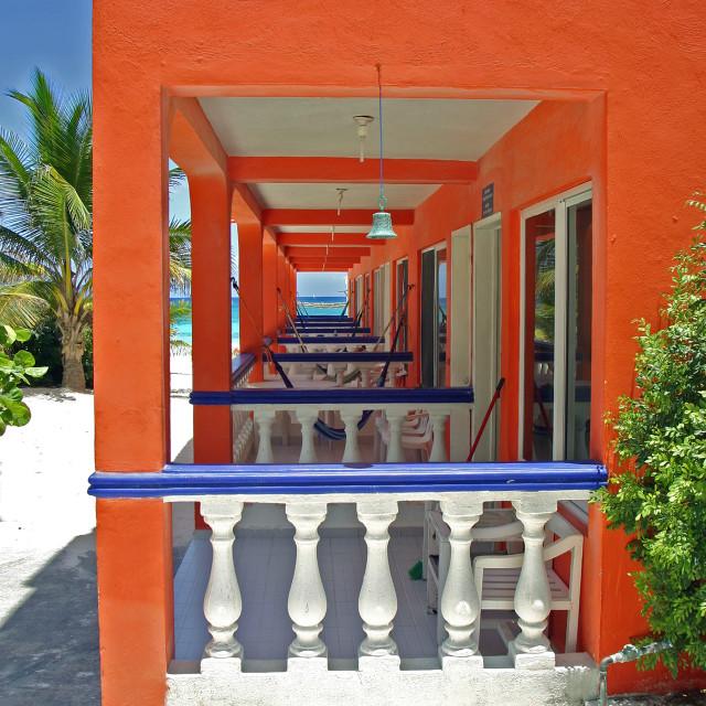 """Hotel, Akumal Mexico"" stock image"