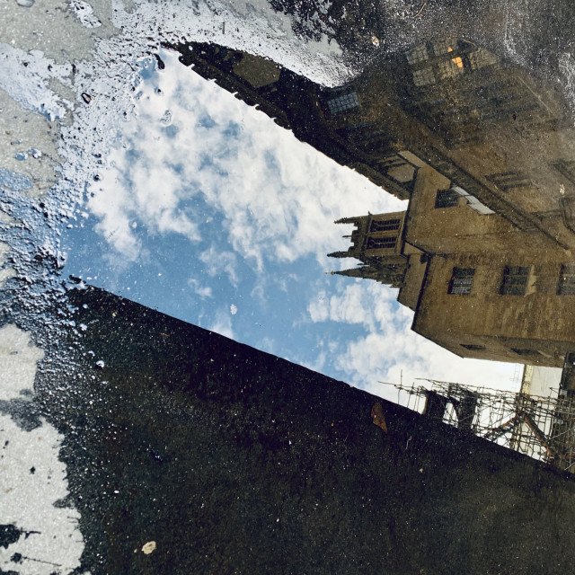 """""""Parliament puddle"""" stock image"""