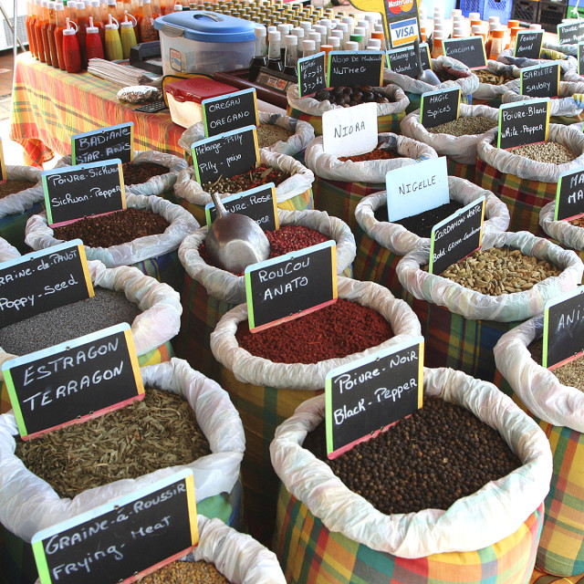 """Spice market, Saint Martin"" stock image"