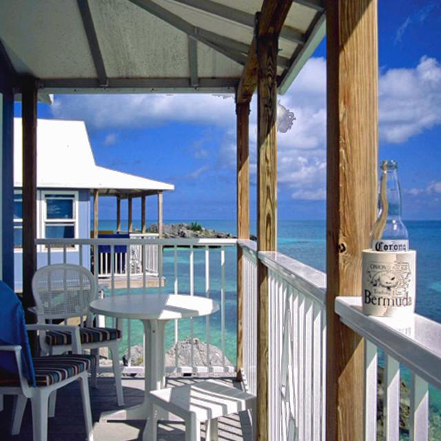 """""""Eco-hut, and corona, Bermuda"""" stock image"""
