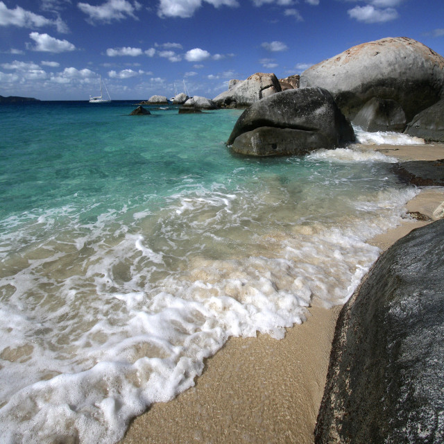 """The baths, Virgin Gorda, British Virgin Islands"" stock image"