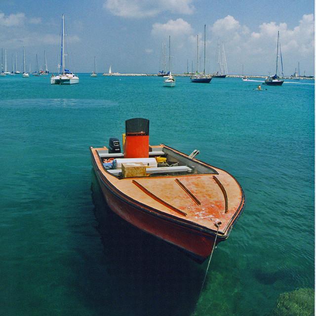 """Boat, Saint Martin,"" stock image"