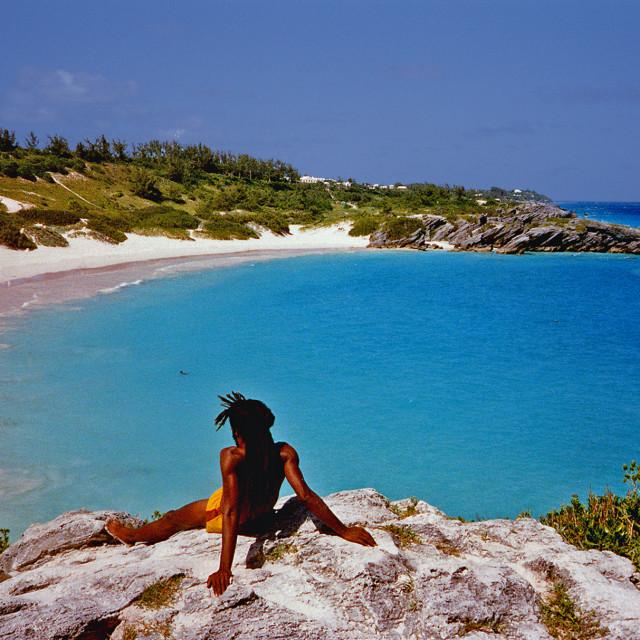 """Horseshoe Bay, Bermuda,"" stock image"