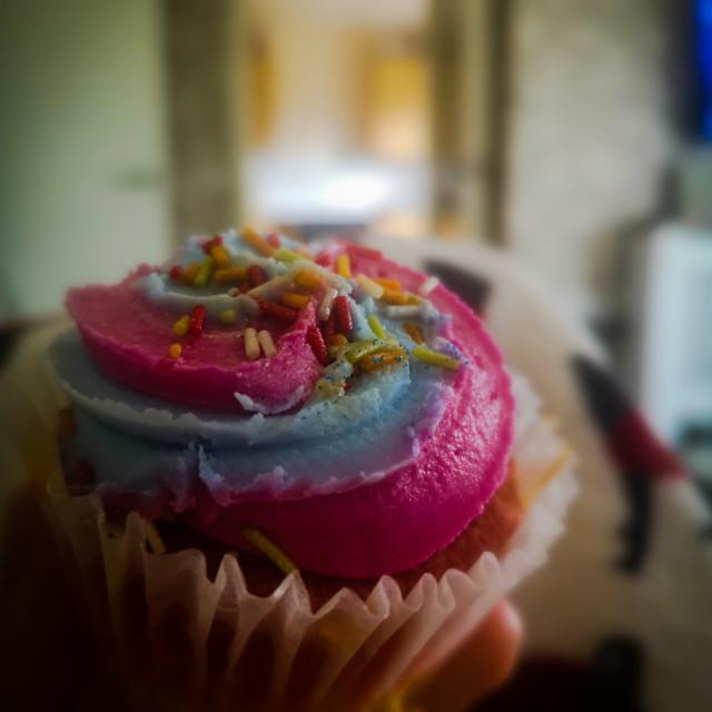 """Colourful cupcake."" stock image"