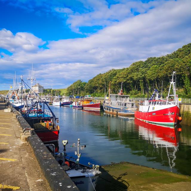 """Eyemouth harbour"" stock image"