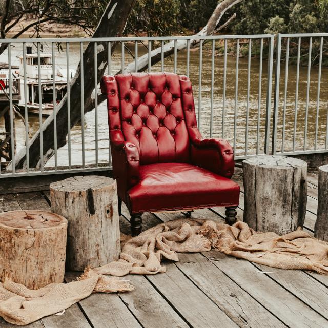 """Forgotten Chair"" stock image"
