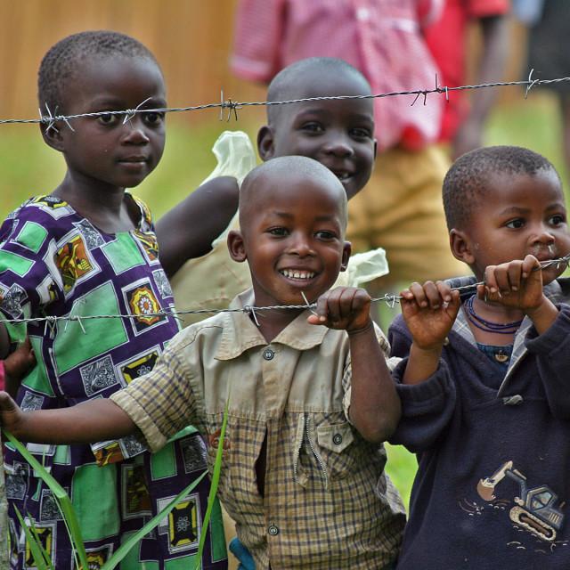 """Uganda school children"" stock image"