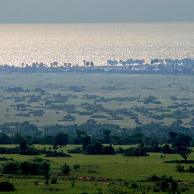 """Lakeshore, Uganda Africa"" stock image"