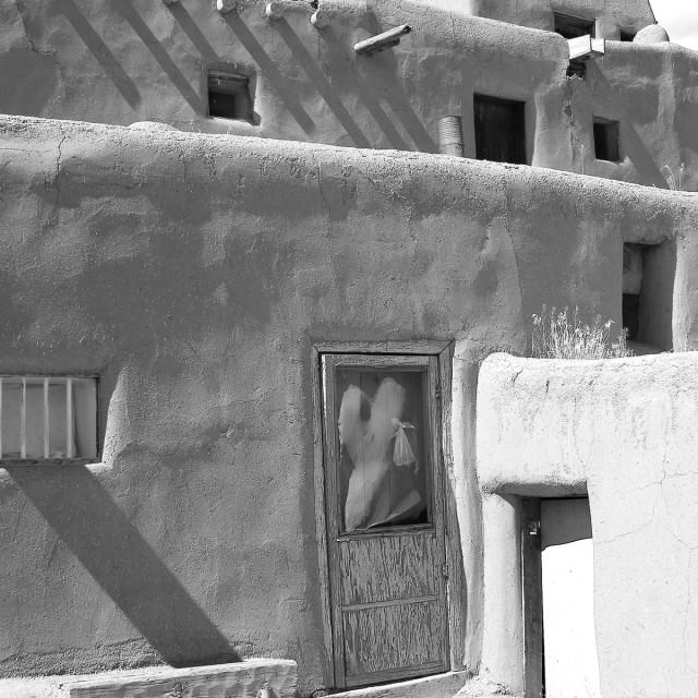 """Taos Pueblo"" stock image"
