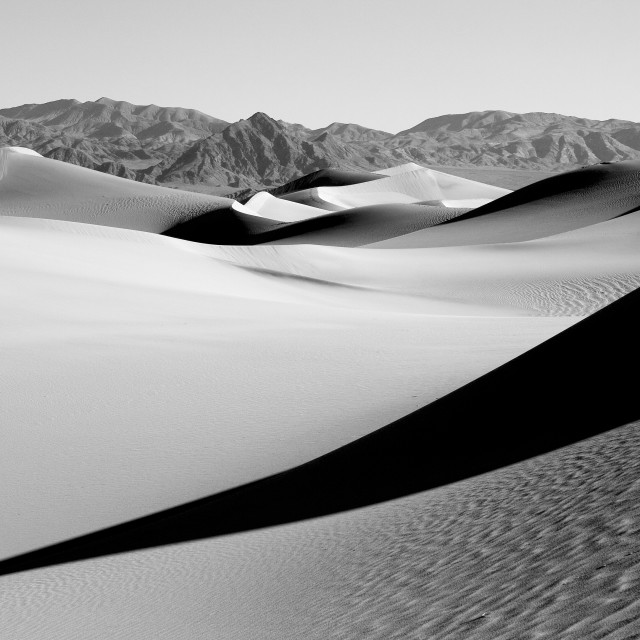 """""""Sand dune in death Valley"""" stock image"""