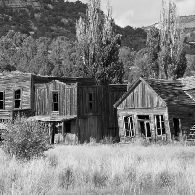 """""""Ghost town, Utah"""" stock image"""