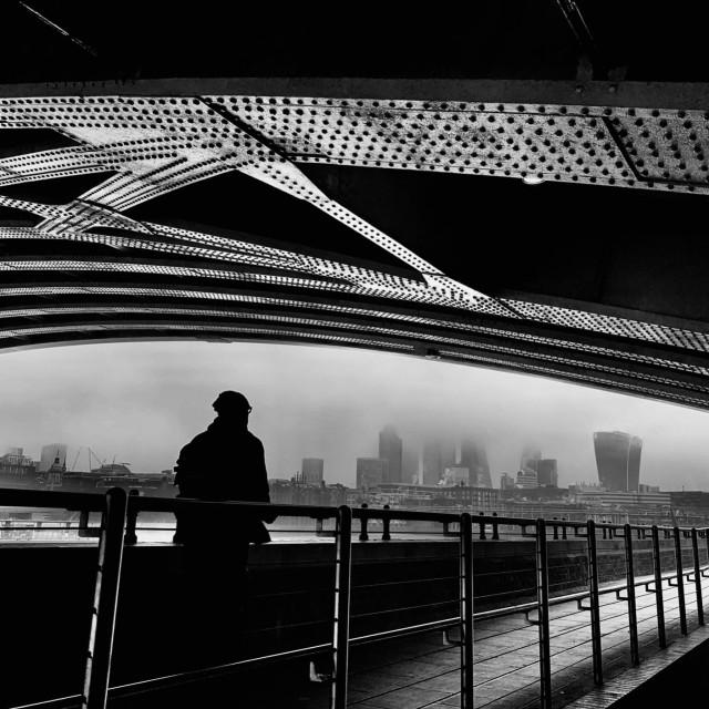 """Under Blackfriars Bridge"" stock image"
