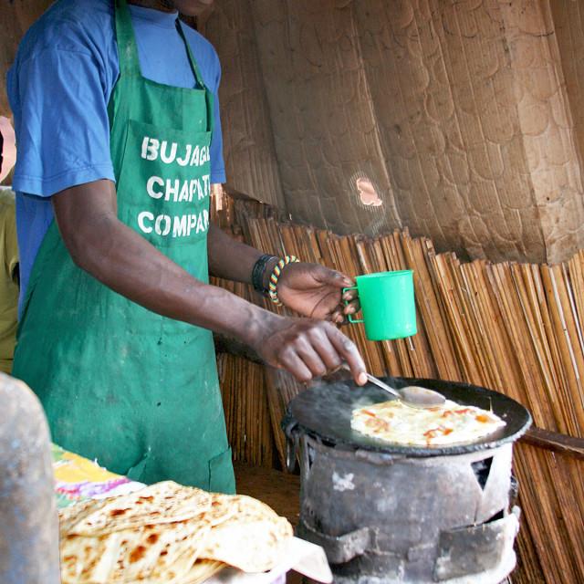 """Chapati Chef, Uganda, Africa"" stock image"