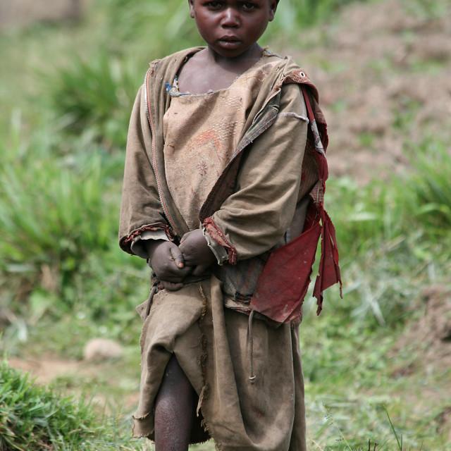 """""""African boy, Uganda"""" stock image"""