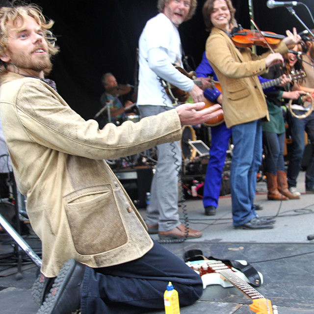 """James Nash, Monterey Pop Festival reenactment"" stock image"