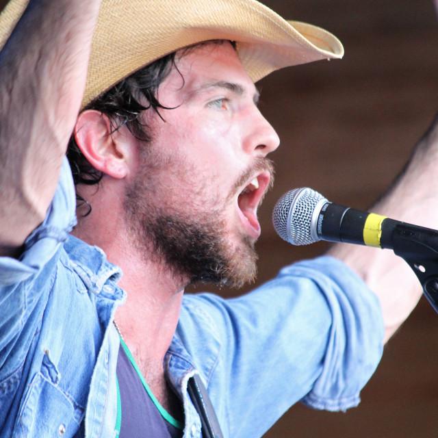 """""""Scott Avett,Merlefest 2010"""" stock image"""