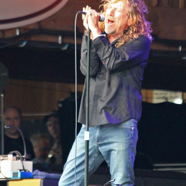 """Robert Plant, merlefest 2011"" stock image"